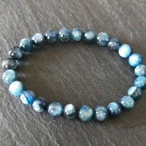 Jewelry - Top grade 8 mm blue kyanite bracelet
